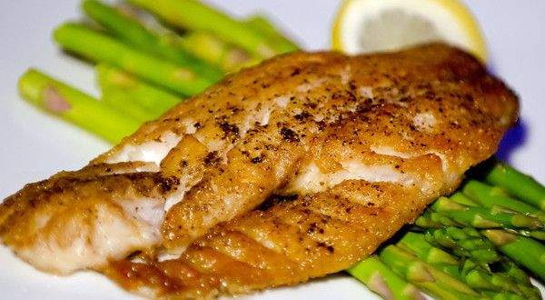 Yellowtail Snapper with Asparagus & Goat Cheese