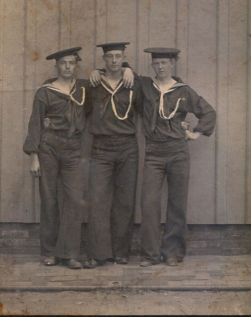 vintage photo of Navy men