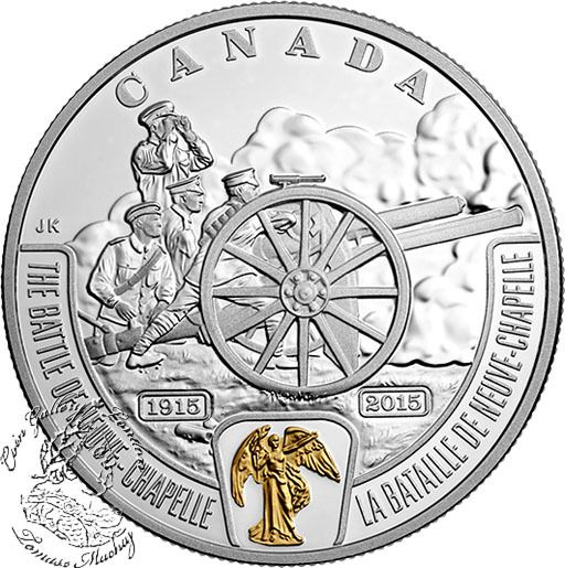 Coin Gallery London Store - Canada: 2015 $20 First World War Battlefront Series: The Battle of Neuve-Chapelle Silver Coin, $109.95