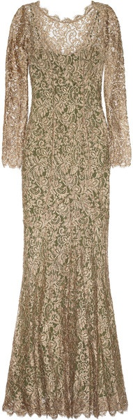 Temperley London   The  Catherine Metallic French Lace Gown