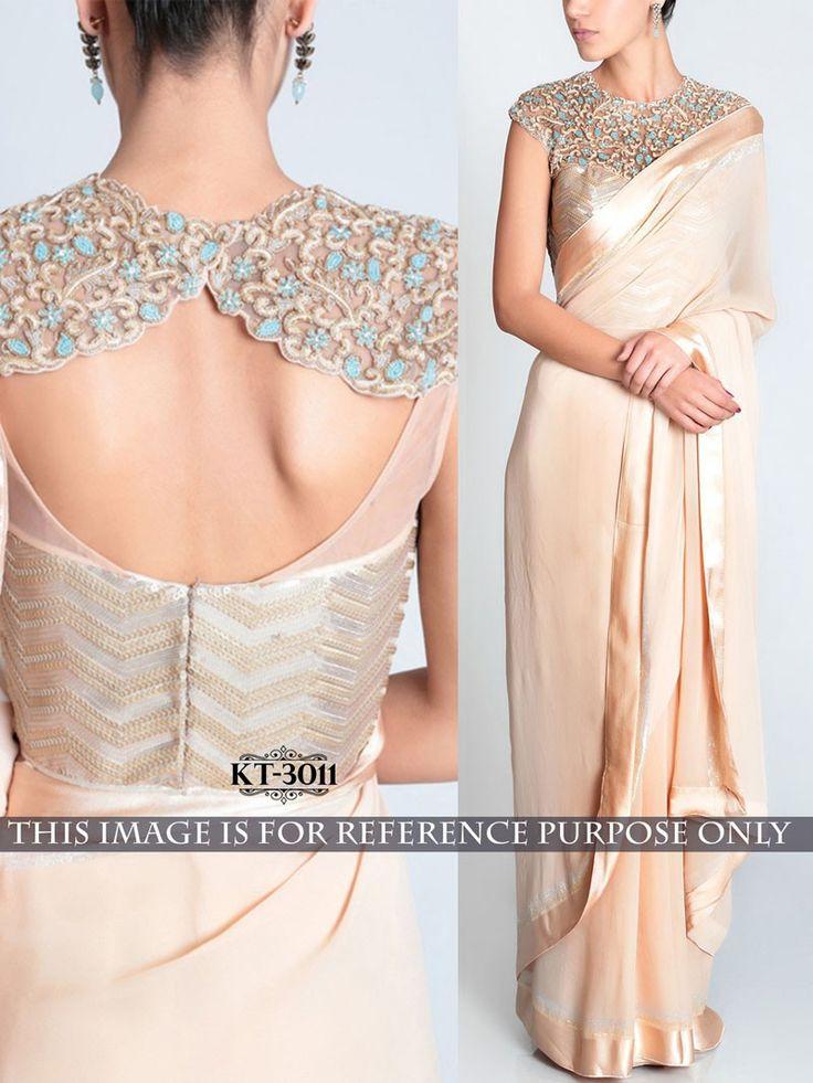 Beige+Color+Designer+Bollywood+Replica+Embroidered+Saree