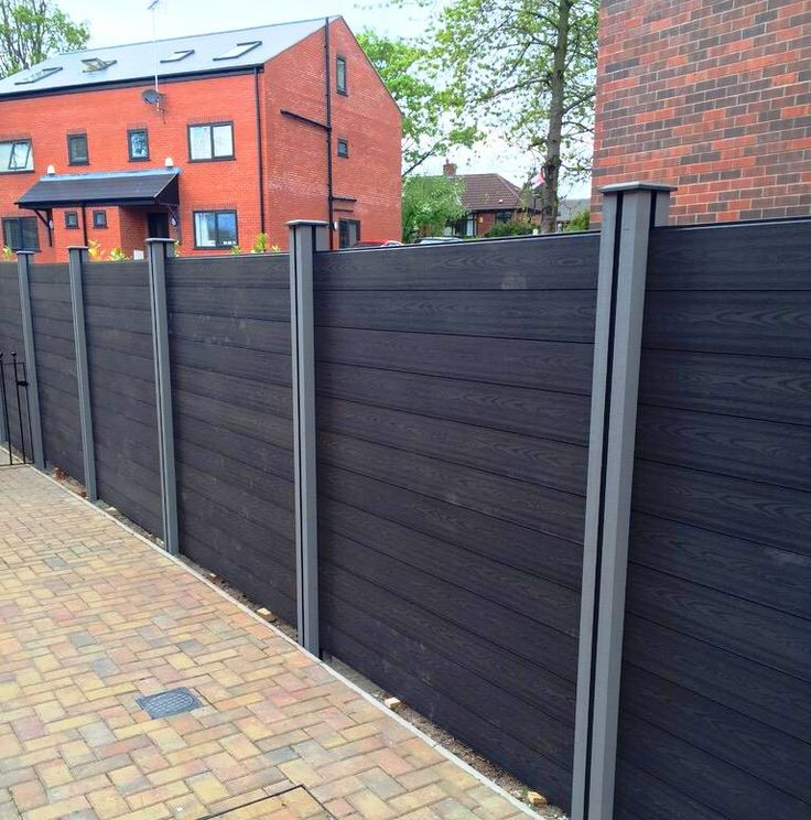 Black WPC Compsoite timber fencing boards www.tradewpc.co.uk