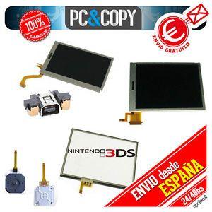 a pantalla lcd superiorinferiortactiljoystickconector o toallitas nintendo 3ds