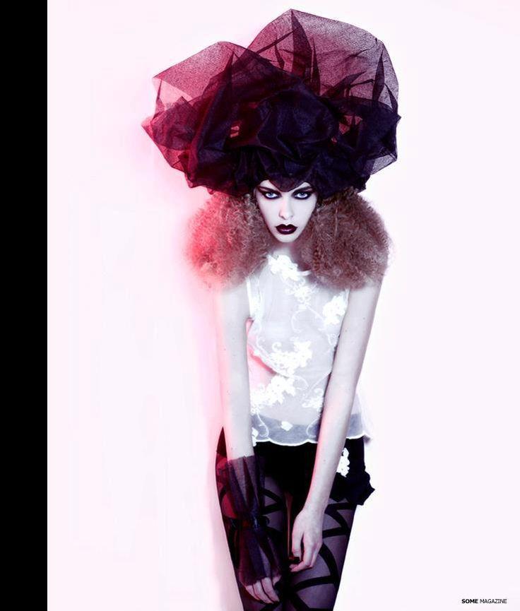 DARK FLOWER fashion editorial featured in SOME Magazine USA #issue8- from page 134 to 145- Photo & DA @ Eric Ouaknine - Design&Style@Laura de Villebonne- Model@Jessica Gourdeau-MUA@Emilie Plume-Hair@Hélène Rabu