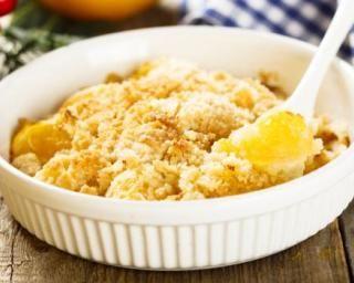 Crumble végétalien mangue-citron : http://www.fourchette-et-bikini.fr/recettes/recettes-minceur/crumble-vegetalien-mangue-citron.html