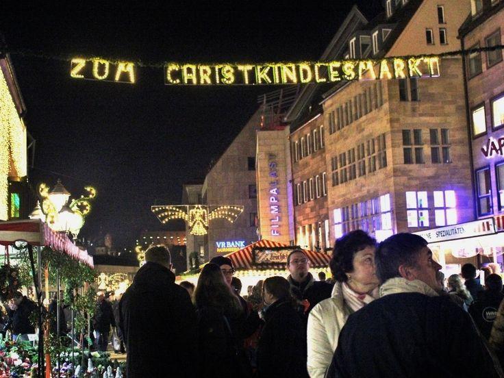 Nuremberg Christmas Market, at night