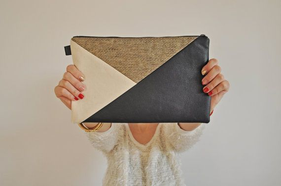 Leather Clutch Leather Handbag Evening Clutch by Vioviolla on Etsy