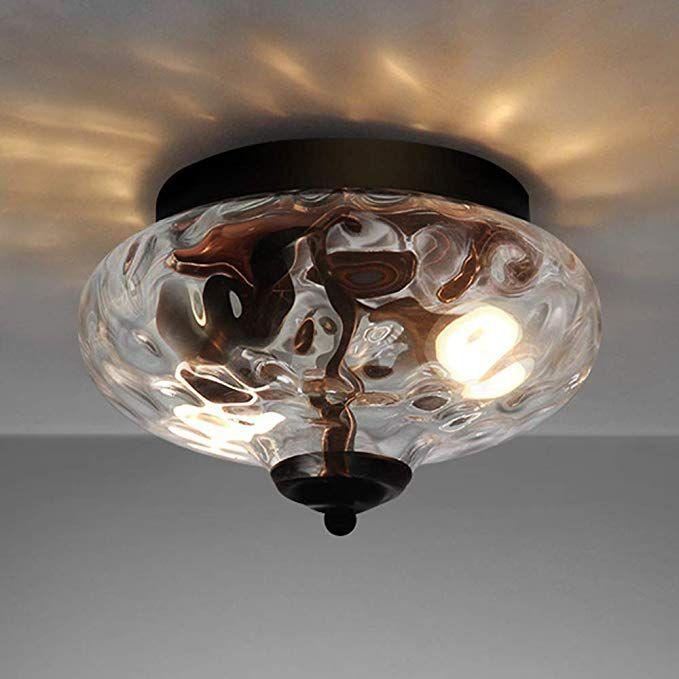 Amazon Com Edislive Modern 2 Light Hammered Glass Flush Mount Light Pendant Ceiling Light In 2020 Ceiling Pendant Lights Ceiling Lights Pendant Ceiling Light Fixtures