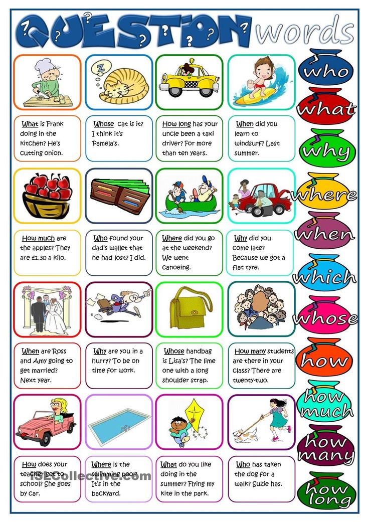 54 Best Question Words Images On Pinterest English Grammar
