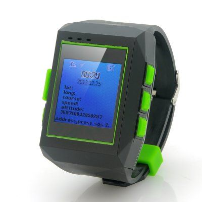 """GPS Watch Tracker """"Geolock"""" - Real Time Tracking, Phone Communication, Route Logging http://www.chinavasion.com/china/wholesale/GPS_Sat_Nav_Devices/GPS_Tracking_Devices/GPS_Watch_Tracker_Geolock_-_Real_Time_Tracking_Phone_Communication_Route_Logging/"""