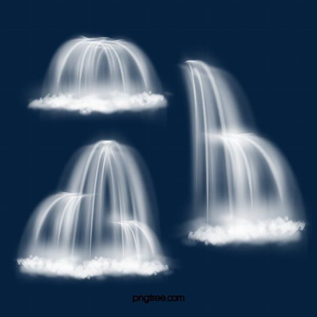 Delicate Feeling Waterfall Flowing Water Scenery Waterfall Flowing Water Exquisite Png Transparent Clipart Image And Psd File For Free Download Waterfall Scenery Water