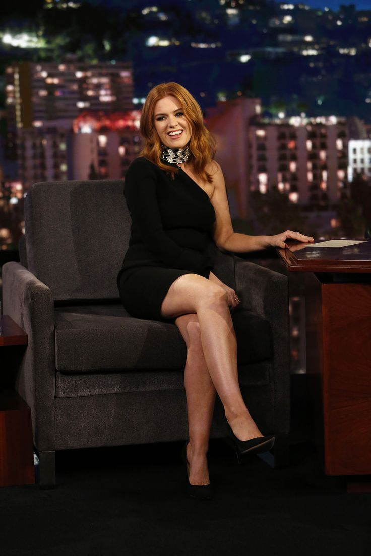 Isla fisher crossed legs in a short dress and high heels