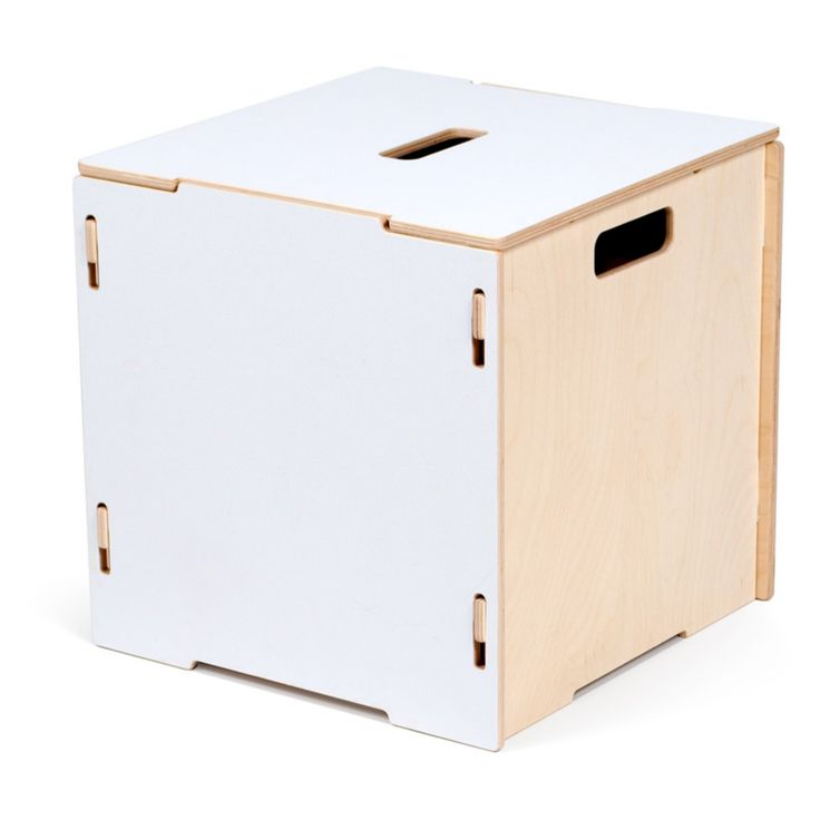 Sprout Stackable White Storage Boxes with Lid - CR_SCL-WHT