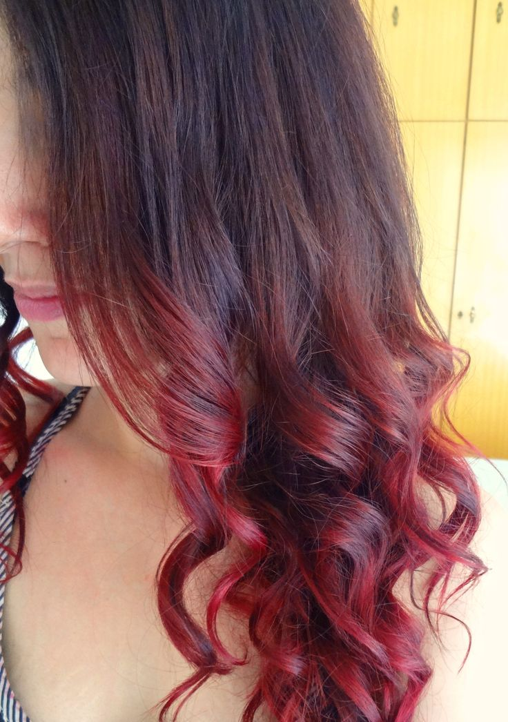 9 best images about my dark brown burgundy red ombre hair on pinterest violet hair cherries - Ombre hair marron ...