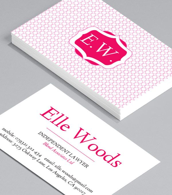 11 best moo luxe cards images on pinterest business cards name elle woods business card template too bad its only available in pink colourmoves