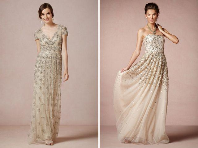 Trending Champagne wedding dresses
