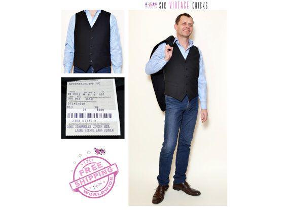 230 kr. Vintage Hugo Boss Vest/ 90's Elegant classic by SixVintageChicks