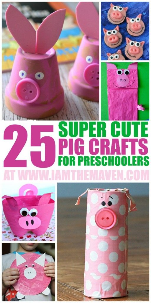 These super cute pig crafts will be a hit with the preschooler at your house!