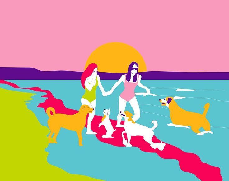 """Maria Jose Carlier on Instagram: """"Ilustración para @maswoman ✨🐾💐 #maswomanesmujer #díainternacionaldelaamistad 💕"""""""