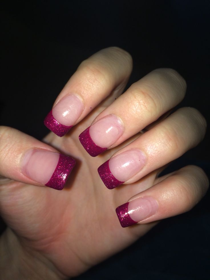 #nails #french #long