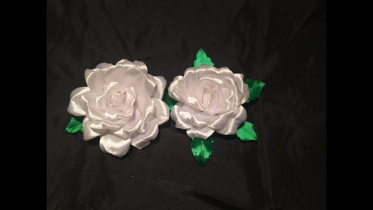 DIY. Headband. Kanzashi rose