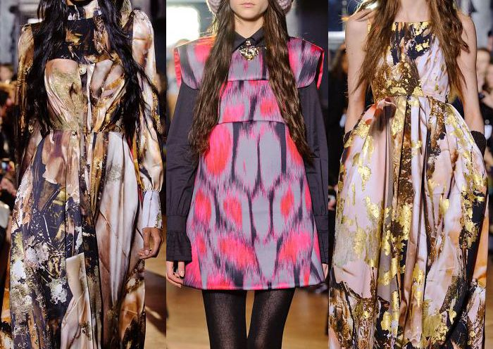 London Fashion Week – Autumn/Winter 2013 – Print & Pattern Highlights – Part 1 catwalks