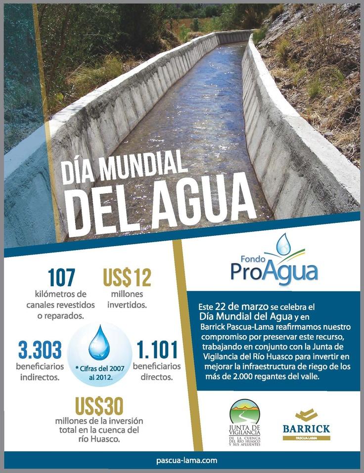 Día Mundial del Agua en Pascua-Lama. Vea la infografía completa en http://pascua-lama.com