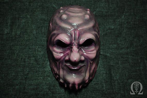 Demon fiberglass mask purple flesh - glossy