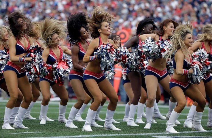 New England Patriots cheerleaders perform during the second half of an NFL…