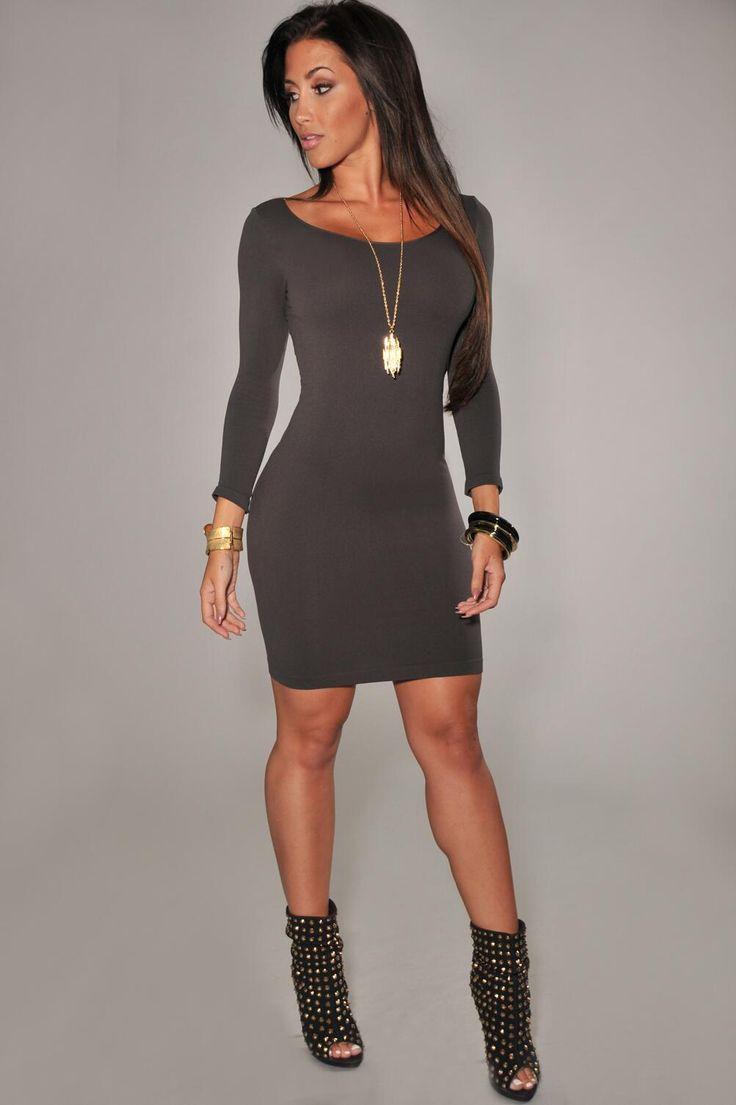 Zara canada pretty little thing black long sleeve bodycon dress teens