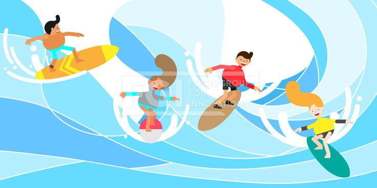 ILL156, 프리진, 일러스트, 여행, 스포츠, 여름레포츠, 레포츠, 에프지아이, 벡터, 여름, 휴가, 휴식, 힐링, 여름휴가, 사람, 캐릭터,…