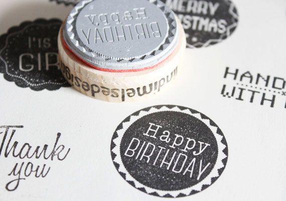Happy birthday stamp.