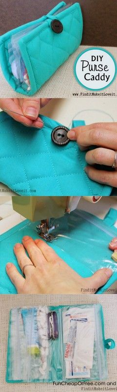 DIY Purse caddy...from a $1 pot holder! #diy #craft #organize