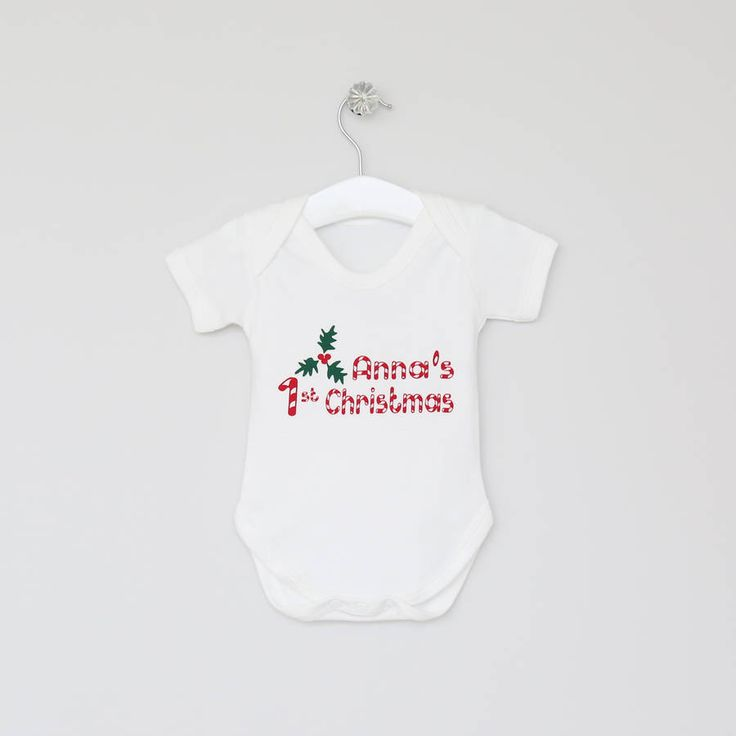 Personalised 1st Christmas Babygrow