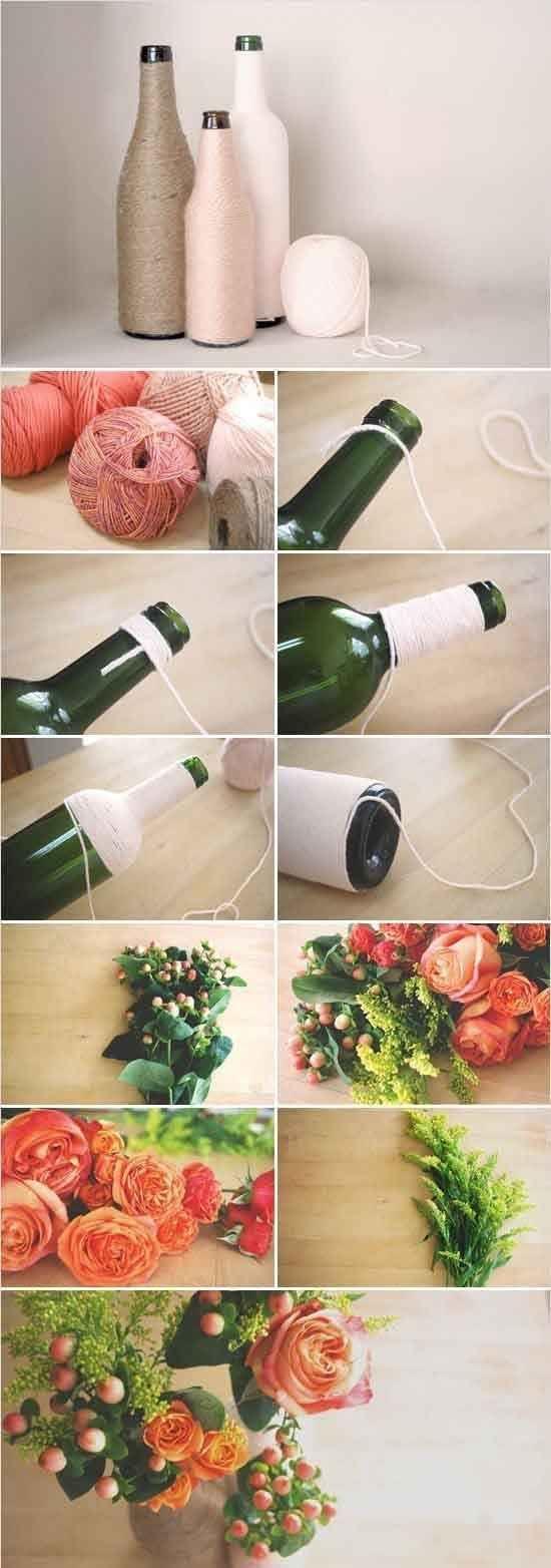 Vaso de lã ou barbante.