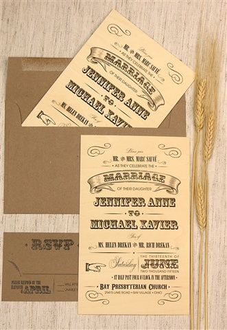 2225 Wood Letterpress Wedding Invitation From Lemon Tree Stationery Is  Perfect For A Rustic Chic Wedding. Customize Yours With Paper Passionista.