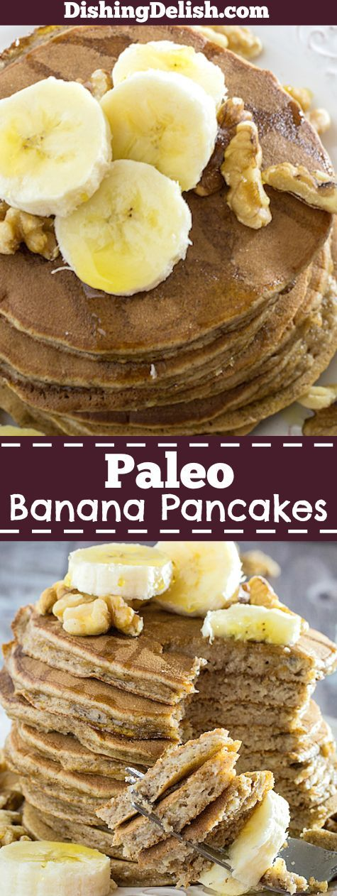Paleo Banana Pancakes are the best almond flour pancakes you'll have all year. They're fluffy, nutty, and easy to flip. Cover them in maple syrup, honey, or your favorite fresh fruit for a healthy grain free breakfast!