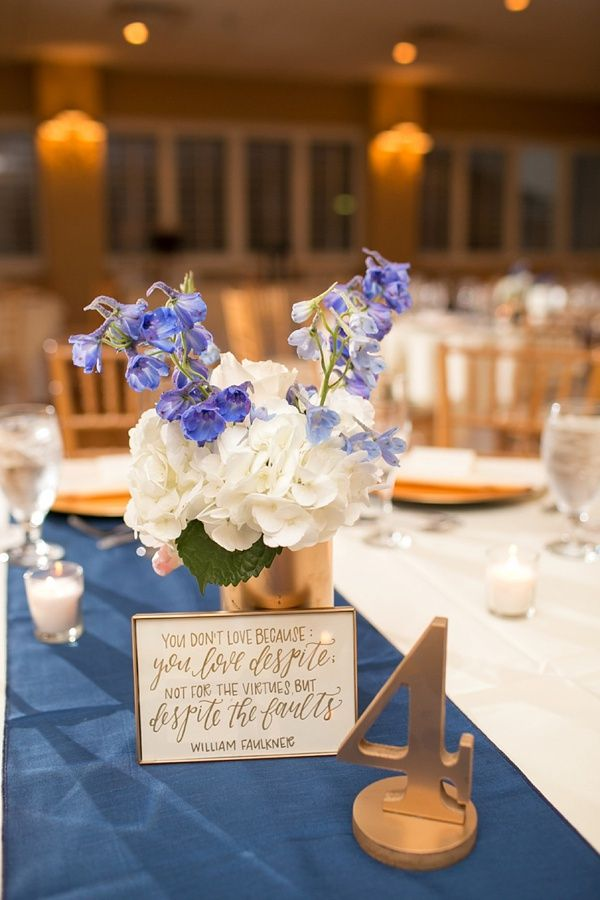 Calligraphy quotes for wedding centerpiece