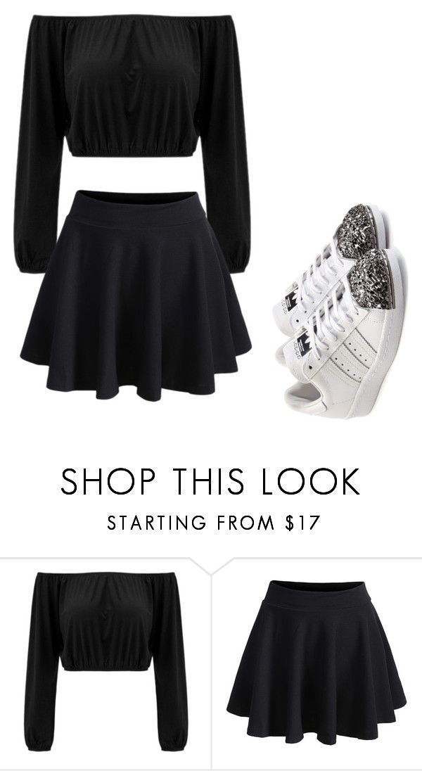 """""""Untitled #2"""" by johnsonnatalia ❤ liked on Polyvore featuring WithChic and adidas Originals"""