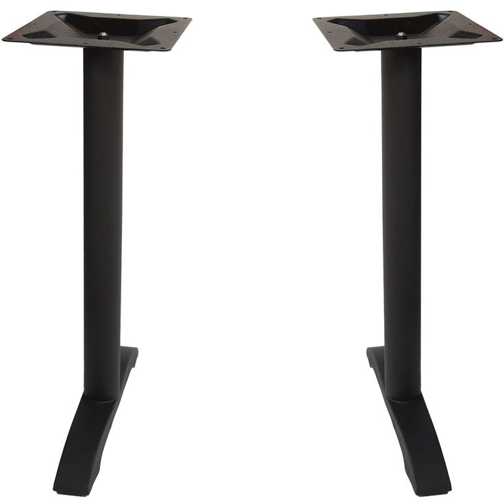 BFM Seating PHTB0022BLT Margate Outdoor / Indoor Bar Height Black End Table Base Set