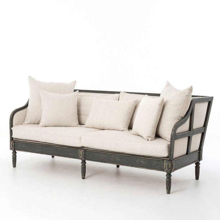 Baroness Josephinas Linen Upholstered Sofa