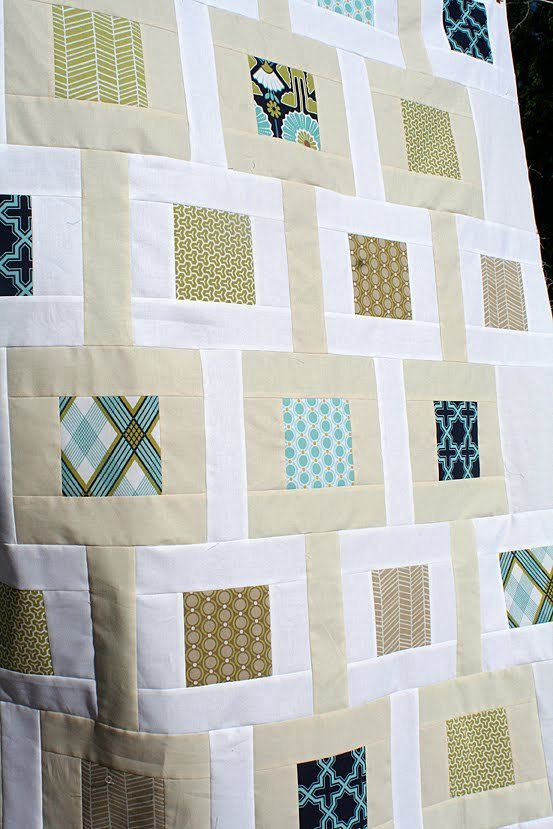 Cute, simple, quilt design! Pattern: Chain Linked by Amy Smart @ http://amysmart.bigcartel.com/