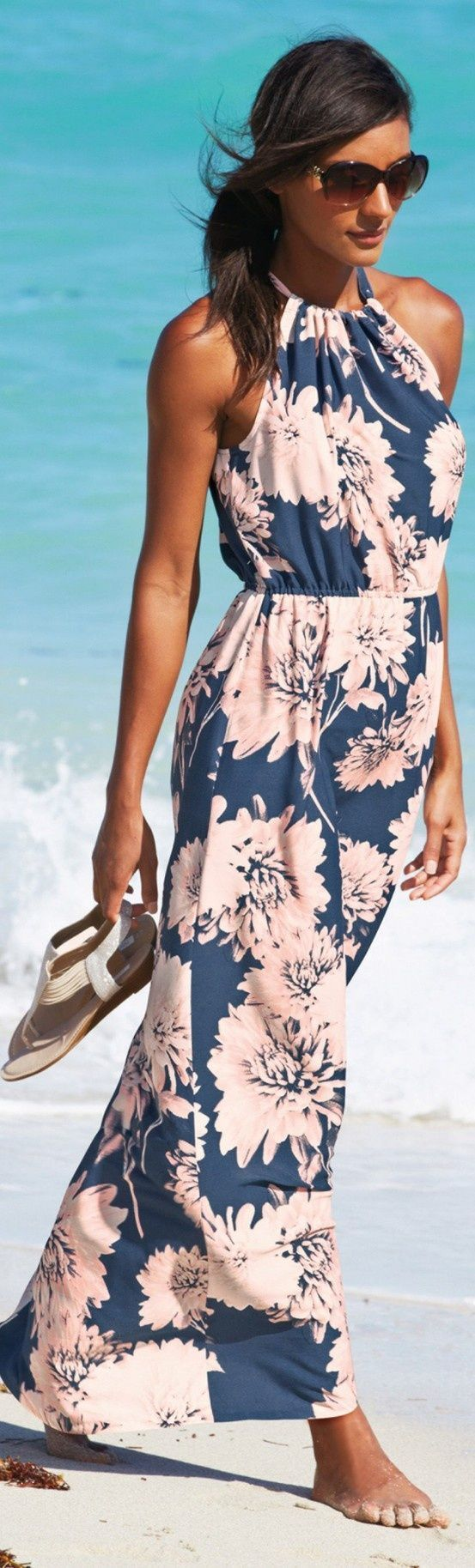 Fashion trends | Floral printed summer maxi dress