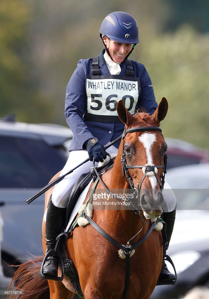Zara Phillips seen after competing in the show jumping phase of the Whatley Manor International Horse Trials at Gatcombe Park on September 11, 2015 in Stroud, England.