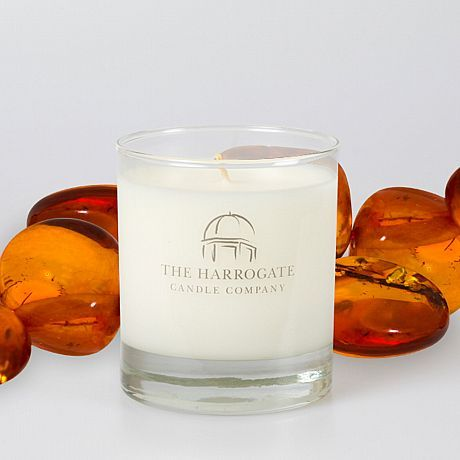 Harrogate Candle Company Divine Dark Amber & Sandalwood Candle available on www.thegreatbritishhome.com #candles #madeinbritain #theharrogatecandlecompany #homefragrance #britishcandles #thegreatbritishhome