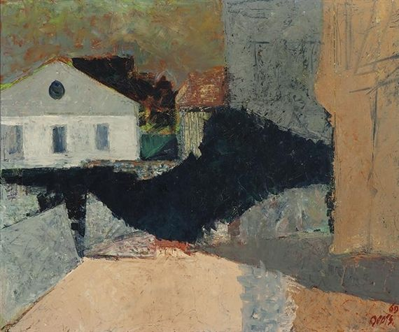Wim Oepts - Landscape with a house, 1969