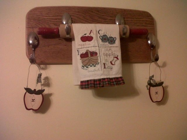 Diy Rolling Pin Holder Using Spoons Projects Diy