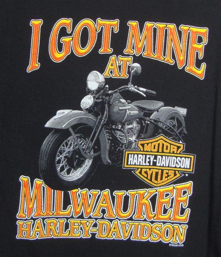 I Got Mine At Milwaukee Harley Davidson Graphic Tee Mens XL Bike 100% Cotton S/S #HarleyDavidson #GraphicTee
