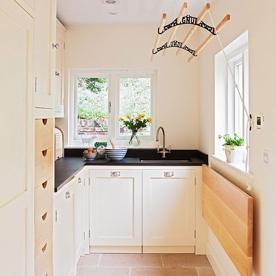 Bright neutral utility room | Utility room decorating | Ideal Home | Housetohome.co.uk