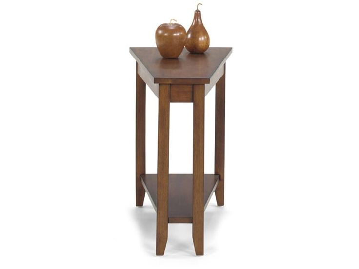 Null Furniture 1900 International Accents Wedge End Table with Bottom Shelf and Tall, Tapered Legs - Johnny Janosik - End Tables